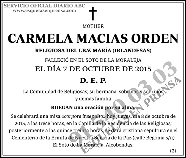 Carmela Macias Orden